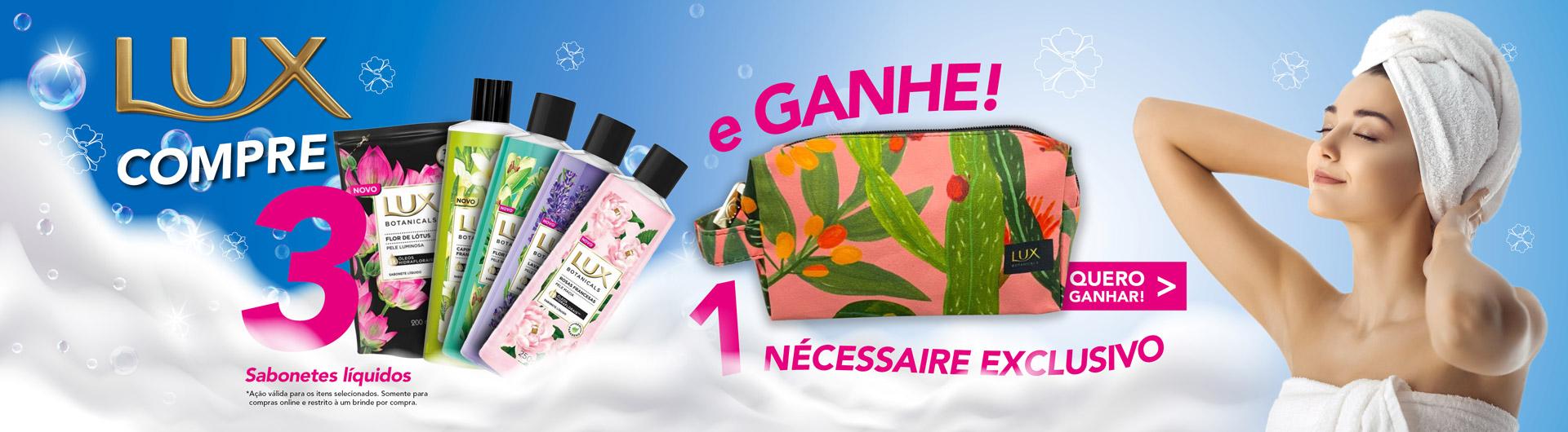 Sabonete Líquido Lux Ganhe Necessaire